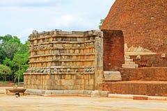 Abhayagiri Dagoba, arv för Sri Lanka UNESCOvärld Arkivbild