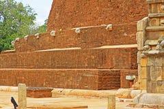 Abhayagiri Dagoba, arv för Sri Lanka UNESCOvärld Arkivbilder
