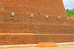 Abhayagiri Dagoba, arv för Sri Lanka UNESCOvärld Arkivfoto
