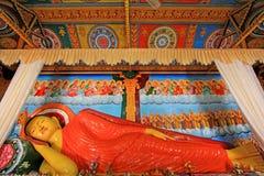 Abhayagiri Dagoba`s Sleeping Buddha, Sri Lanka UNESCO World Heritage. Abhayagiri Dagoba belongs to the aramic complex of Abhayagiriya Viharaya which was Royalty Free Stock Photography