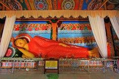 Abhayagiri Dagoba ` s som sover Buddha, arv för Sri Lanka UNESCOvärld Arkivbilder