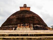 Abhayagiri vihara i Anuradhapura, Sri Lanka Arkivfoton