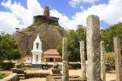 abhayagiriya anuradhapura dagoba lanka sri 图库摄影