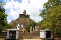 Abhayagiriya Dagoba, Anuradhapura, Sri Lanka. Image of UNESCO's World Heritage Site of Abhayagiriya Dagoba, located at Anuradhapura, Sri Lanka, being restored Royalty Free Stock Photo