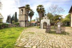 Abhazia Forntida tempel för territorium av Dormition av mest vår helgedom Arkivfoto