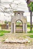 Abhazia På den närgränsande territoriumtemplet av Dormition av mest H Arkivbild