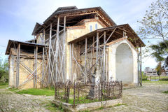 Abhazia. A temple of Dormition of most Holy our Lady is in a village Lykhny stock image