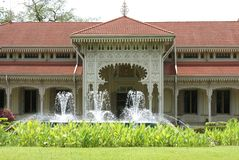 Abhisek Dusit biskopsstol Hall, Dusit slott, Bangkok, Thailand, Asien Arkivfoton