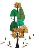 Abholzung stock abbildung