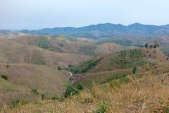 Abholzung auf dem Berg für landwirtschaftliches in Chiang Rai Pro Lizenzfreies Stockfoto