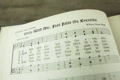 Abide With Me Fast Falls the Eventide Christian Worship Hymn. Written by the Anglican minister Henry Francis Lyte in 1847 and set to the music of William Henry Royalty Free Stock Photography