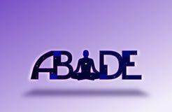 ABIDE Yoga Background Royalty Free Stock Photos