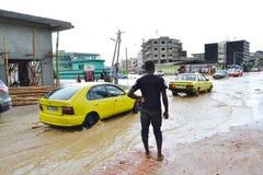 Abidjan dos corrimentos devendo chover Fotos de Stock