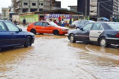 Abidjan floods / Emergency meeting at Cocody town hall yesterday: Mayor`s plea Stock Photo
