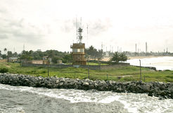 Abidjan-Hafen Stockbild