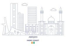 Abidjan City Skyline, Ivory Coast. Abidjan Linear City Skyline, Ivory Coast Royalty Free Stock Photos