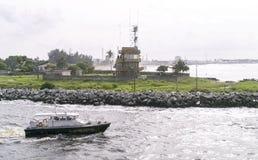 Abidjan port Arkivfoton