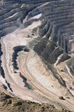 abierto cobre de mina tajo Arkivfoto