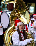 Abilene High School Band in Thanksgiving Parade Stock Image