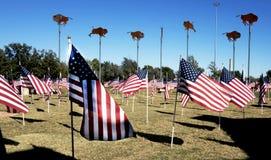 Abilene, TX USA - 9. November 2014: Stadt Abilenes Texas ließ die Besuchermitte laufen, patriotisch Lizenzfreies Stockfoto