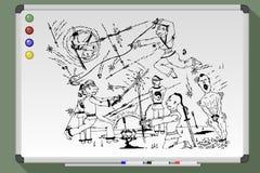 Abilità del movimento e di combattimento dell'assassino di Ninja illustrazione vettoriale