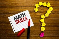 Abilità di per la matematica del testo della scrittura Il significato di concetto che comincia imparare come contare i numeri agg fotografia stock