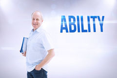 Ability against grey background Royalty Free Stock Photo