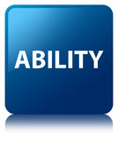Ability blue square button Royalty Free Stock Photo