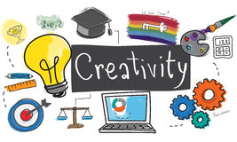 Ability Capability Creativity Drawing Icon Illustration Concept.  Stock Photography