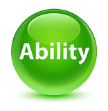 Ability glassy green round button Royalty Free Stock Photo
