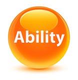 Ability glassy orange round button Royalty Free Stock Image