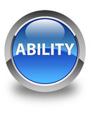 Ability glossy blue round button Royalty Free Stock Image