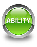 Ability glossy green round button Royalty Free Stock Images