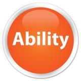 Ability premium orange round button. Ability isolated on premium orange round button abstract illustration Stock Photos