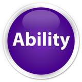Ability premium purple round button. Ability isolated on premium purple round button abstract illustration Stock Photo