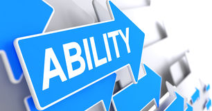 Ability - Message on Blue Cursor. 3D. Royalty Free Stock Photo