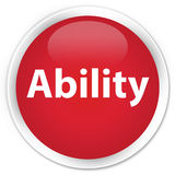 Ability premium red round button Royalty Free Stock Images
