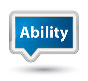Ability prime blue banner button Royalty Free Stock Image
