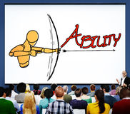 Ability Talent Strength Archery Aim Concept Royalty Free Stock Images