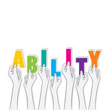 Ability text banner design Stock Images