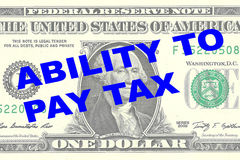 Ability to Pay Tax concept Stock Photos