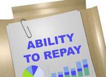 Ability to Repay concept Royalty Free Stock Images