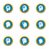 Ability to think icons set, flat style. Ability to think icons set. Flat set of 9 ability to think vector icons for web isolated on white background Royalty Free Illustration