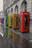 Abingdon街道邮局电话box& x27; s布莱克浦 免版税库存图片
