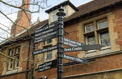 Abingdon Signpost, Oxfordshire Royalty Free Stock Image