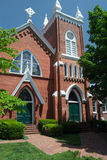 Abingdon United Methodist Kerk - Abingdon, Virginia Stock Afbeelding
