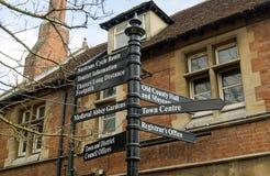Abingdon voorziet, Oxfordshire van wegwijzers Royalty-vrije Stock Afbeelding