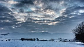 Abington Snowscape Royaltyfri Fotografi