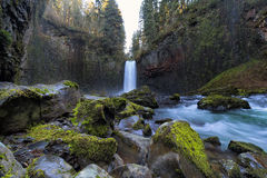 Abiqua Falls in Oregon State Royalty Free Stock Photos