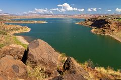 Abiquiu Lake reservoir, New Mexico Royalty Free Stock Photography